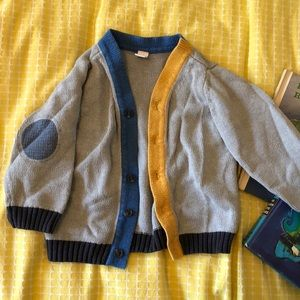 Other - Boy's Color Block Cardigan with Elbow Patches 18 m